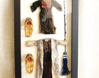 Shadow Box, Doll Clothes, Miniatures, Clothing Display, Wall Decor, Artifacts, Museum Display, Boxes, Display Box, Textiles, Miniature Shoes