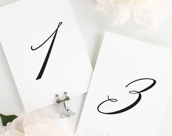 Olivia Table Numbers - 5x7""