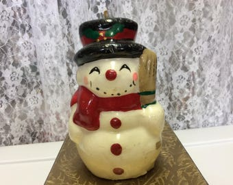 Antique Frosty the Snowman Christmas Wax Candle, Figure , Wax Candle, Collectibles, Snowman, Vintage Decor