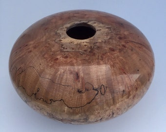 Spalted maple burl hollow form