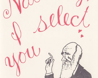 Charles Darwin Greeting Science Valentine