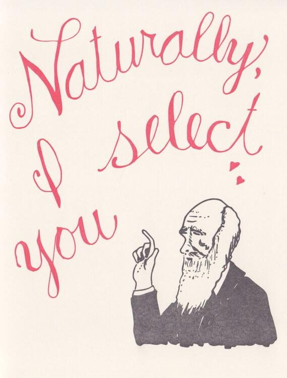 Charles Darwin Greeting Science Valentine