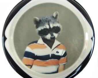 "Ryan Raccoon Plate 6.65"""