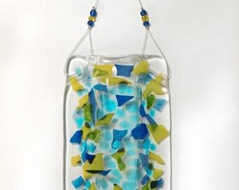Fused Glass Wall Pocket Vase
