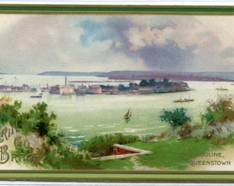 Haulbouline Queenstown St Patrick's Day Greeting 1910c postcard