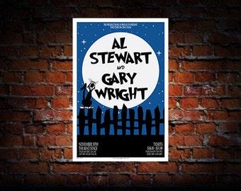 Al Stewart / Gary Wright 2016 Concert Poster