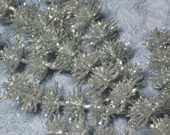 Glittered Silver Holiday Craft Picks