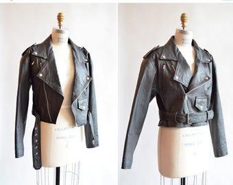 30% OFF storewide // Vintage 1990s LEATHER moto jacket