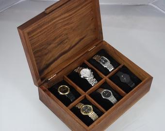 Watch Box, Mens Watch Box-Holds 6