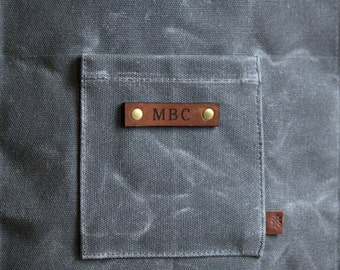 Custom Monogramming for Waxed Canvas, Waxed Canvas Bags, Waxed Canvas Pouch, Custom Name, Personalized Gift, Monogram, Initials, Gift