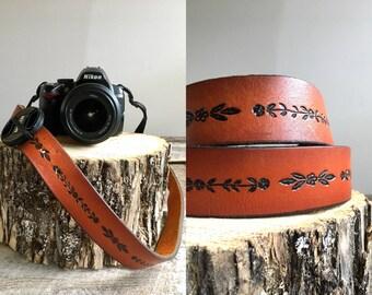 Vintage Camera Strap  //  Leather Camera Strap //  THE MANSON