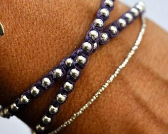 SALE Silver Beads bracelet.