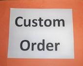 Custom Order 4 drawqer pulls, sandblasted for Jessika