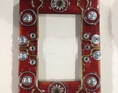 Picture Frame - Small Upcycled Hardware Home Decor - Fits photo size 2 1/2 X 3 1/2