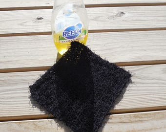 Black Dish Scrubby Kitchen Cleaning Polyester Scrubby
