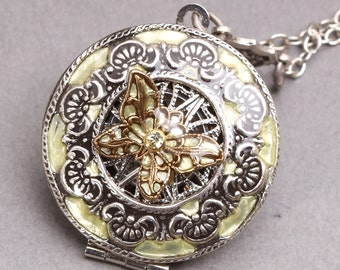 Steampunk Compass Necklace Steampunk Butterfly Compass Necklace