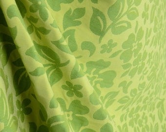 Green Contemporary Floral Fabric