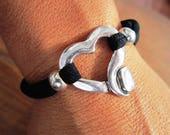 heart bracelet, Personalized bracelet, adjustable bracelet, elastic bracelet, colorful jewelry, Lycra bracelet,