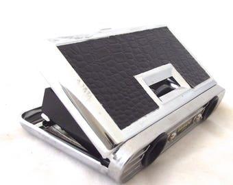 Collapsible Binoculars, Vintage Pocket-Sized Tasco Binoculars in Black and Chrome (DB1)