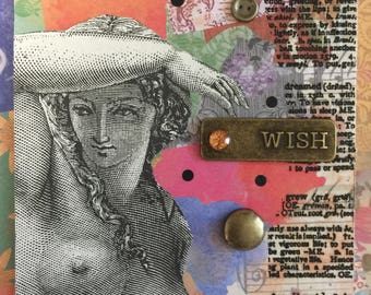 Simply Stated On ETSY  Self Help Etsy Artistry Etsy Original Handmade Mature  ACEO ATC Alteredhead On Etsy Altered Mixed Media Card Statues