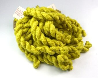 Embroidery yarn, hand-dyed with natural dyes, wool, silk, cashmere thread, cobweb weight, embroidery floss, 20m, GOLDENROD, yellow color 211