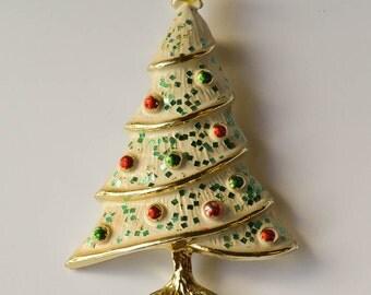 Christmas Tree Brooch Christmas Pin