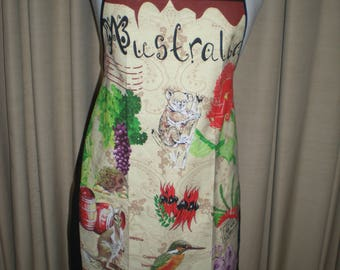 Australian animals flowers souvenir apron Great overseas gift for family and friends Cotton fabric