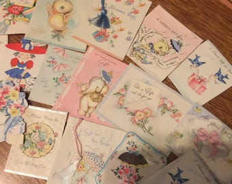 Vintage 1940's Greeting Cards Gift cards