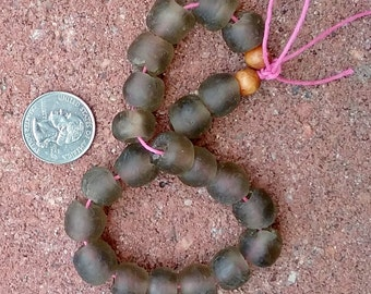 Ghana Glass Beads: Short Strand