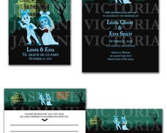 Haunted Mansion Disneyland Wedding Invitation, Save The Date, or RSVP Digital Files