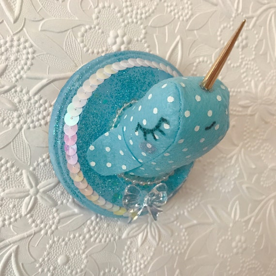 Tiny Narwhal Faux Taxidermy