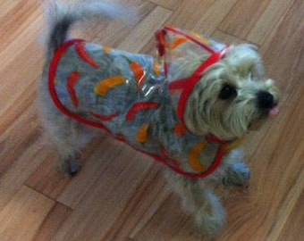 Chilli Pepper Dog Rain Jacket, Dog Rainjacket, Dog Coat, Dog Jacket, Dog Jackets, Chilli Pepper
