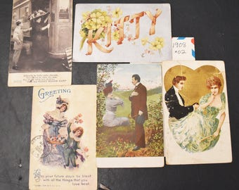 Vintage postcards, FREE SHIPPING 21 cards, 1908, loved ones, sweethearts, and misc. -  card-making, scrap-booking, paper crafts 006