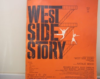 RARE 1950's West Side Story Vocal Selections Musical Sheet Music Soft Cover Book