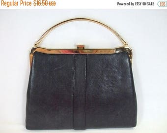 SALE 50% OFF Vintage Handbag Purse Small Black