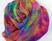 Hand dyed Silk Fabric, Silk Chiffon Length, Ready to ship, 90 x 44 inches by  SallyAnnesSilks on Etsy C31