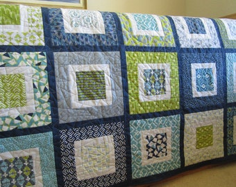 Modern Quilt, Patchwork Quilt, Handmade Quilt, Homemade Quilt,  Lap Quilt, Geometric Quilt, Home Decor, Sofa Quilt, Quilted Throw