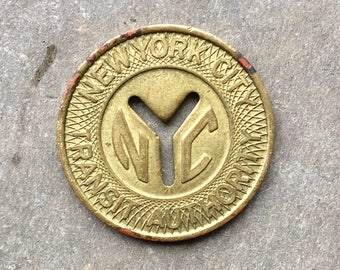 Vintage NYC Subway Token