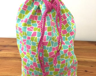 Drawstring Bag, Sports Bags, Shoe Bag, Toy Storage Tote, Diaper Bag, Gift Idea for Kids, Gifts for Her, Car Bag, Beach Bag, Sweetnola