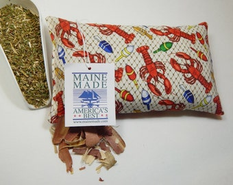 Balsam Cedar Pillow, Lobster Buoys Pillow,  Balsam, Red Cedar Pillow, Scented Pillow, Maine Made