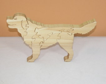 Golden Retriever Animal Puzzle - Wood Animal Puzzle - Canine Puzzle