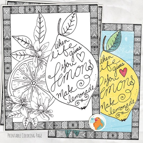 Coloring Page Lemons to Lemonade Colouring Sheet Printable