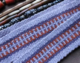 Handwoven Wool Strap or Sash For Historic Reenactment or Modern Times, Handspun Wool
