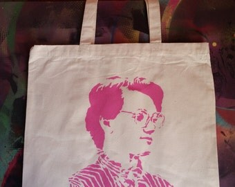 Barb Stranger Things street pop art tote bag stencil and spray paint art by Rainbow Alternative on Etsy