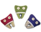 ON SALE Cate and Levi Handmade Tooth Fairy Pouch (Premium Reclaimed Wool), Colors Will Vary
