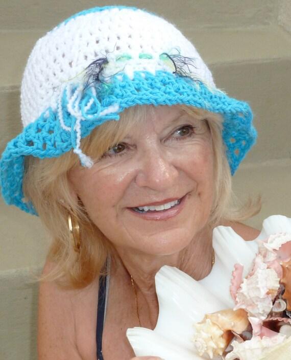 Crochet hat women's fashion Bohemian accessories summer cotton hat