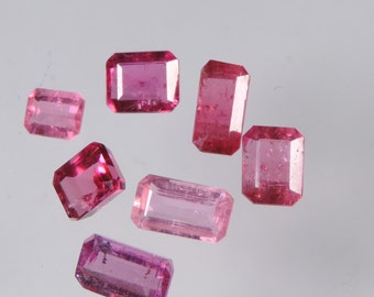 4.75 cts hot pink tourmaline faceted mixed octagon cut lot afghanistan
