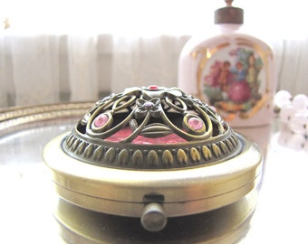 Vintage Mirror Compact Kaqiusha Double Sided Mirror Magnifying Mirror Ladies Accessory from AllieEtCie