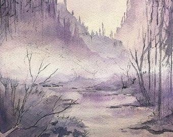 Watercolor Painting Original Watercolor Art Painting Ink Drawing Watercolor Landscape Painting Original Landscape Watercolor