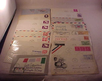 18 US Postage First Day Issue Embossed Prepaid Postage Envelopes Stamped Envelopes